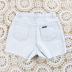 Vintage | 90s Light Wash Blue Jean Cut Offs Shorts